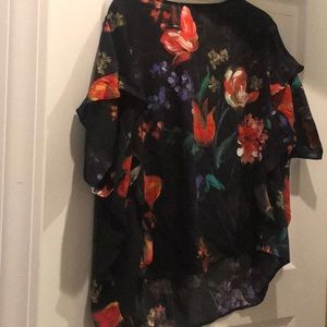 """Express """"watercolor"""" floral blouse! NWT"""